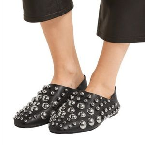 Alexander Wang Edie Studded leather loafers